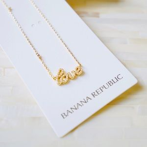 Banana Republic Love Pendant Necklace - NWT
